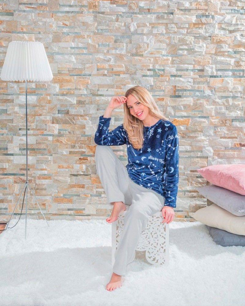 Pijama Mujer Coralina Abril azul