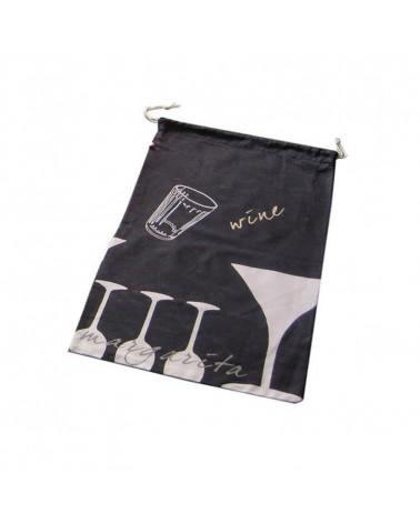 Bolsa Pan Algodón Vasos negra