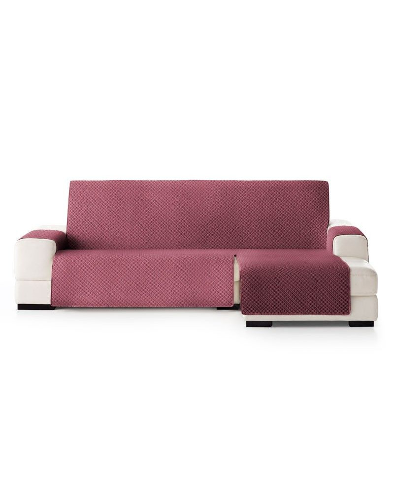 fundas cheslong Funda Barata Chaise Longue Acolchada Color Granate Plazas Chaise Longue Derecho Medidas Normal