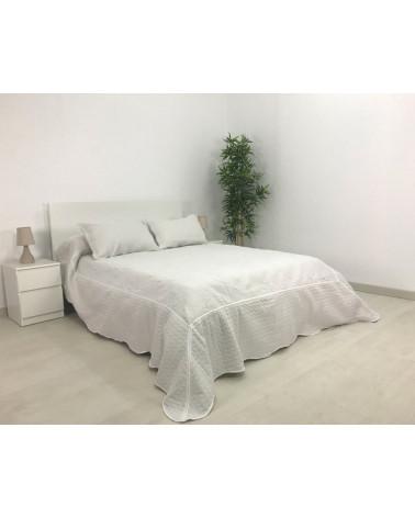 Colcha Bouti Bordada Mallorca Algodón blanca